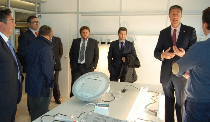 Una delegació de la FEB visita amb l'alcalde de Badalona Odeco Technologies