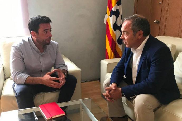 El president de FEB PIMEC es reuneix amb el nou alcalde de Badalona, Álex Pastor
