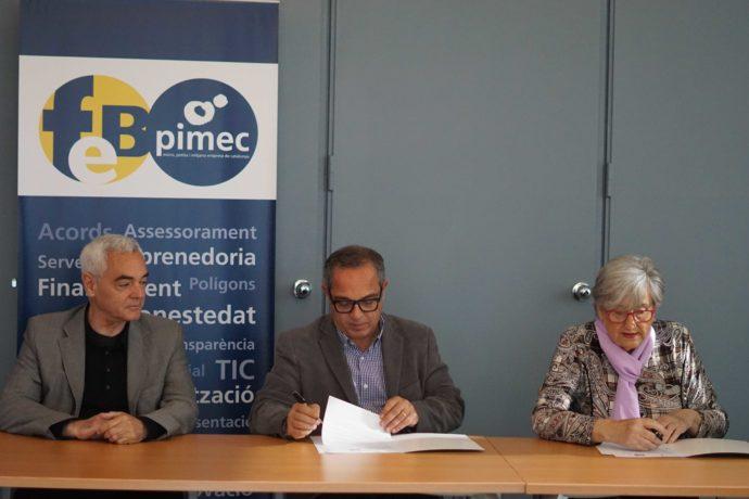 FEB PIMEC firma un conveni de col·laboració amb la Fundació Badalona capaç per tal de promoure la inclusió social a les empreses