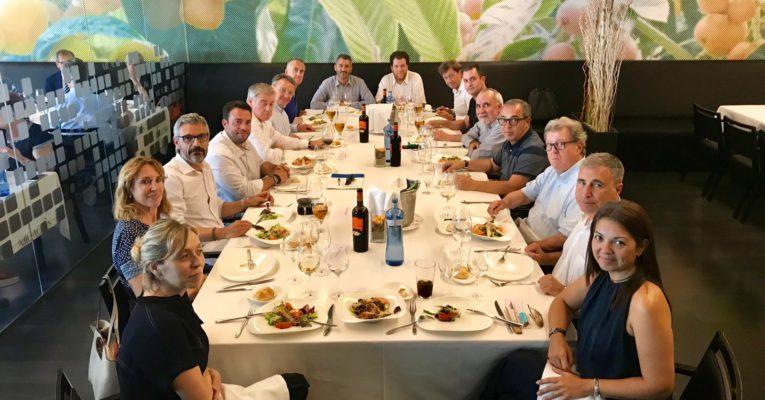 La Junta Directiva de Febpimec celebra el seu tradicional dinar d'estiu