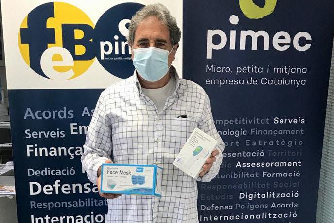 FEB PIMEC reparteix termòmetres digitals clínics a les empreses de Badalona