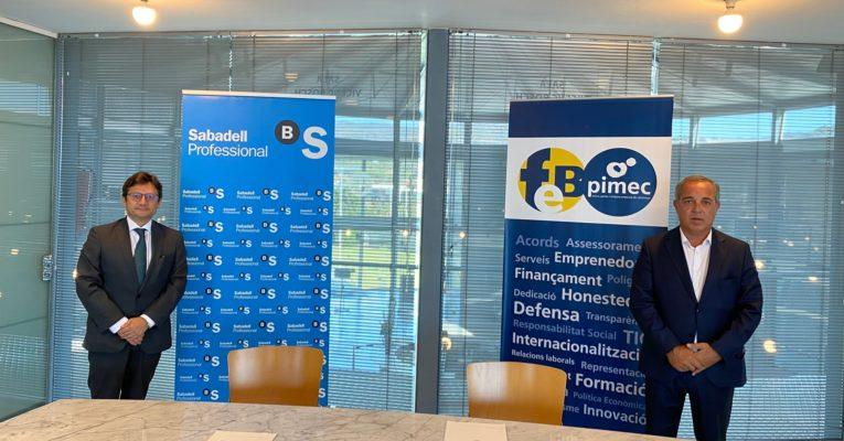 FEB-PIMEC renova la seva col·laboració amb Banc Sabadell perquè els seus associats puguin tenir condicions avantatjoses